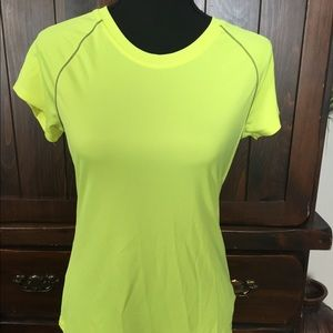 Women's neon yellow workout t-shirt